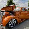 A beautifully detailed and customized 1938 Chevy Coupe.