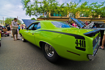 This lovely vehicle is a 1970 Plymouth Barracuda