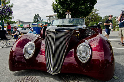 1937 Custom Ford Convertible.