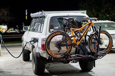 """""""Drop back"""" Bike racks"""