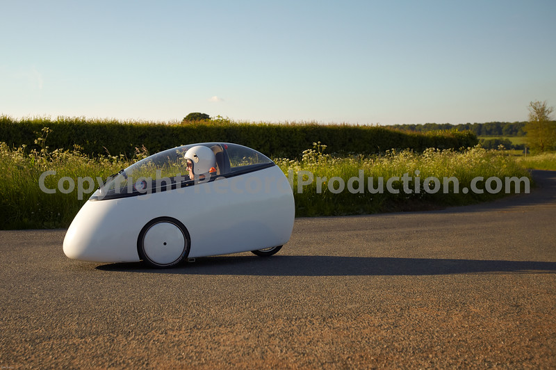 Could this be Jeremy Clarkson?  Someone said it's James May.  Picture taken of funky bubble car only a mile from Jeremy Clarkson's house so likely to be him?