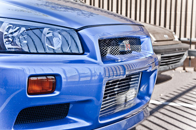 Blue Nissan Skyline