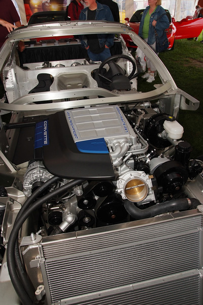 2009 Corvette ZR1 Cutaway engine on rolling chassis