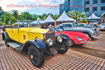 The Three Finalists; 1. Rolls Royce Connaught Tourer 1926, 2. Jaguar E-type 1965 and 3. Bentley R-Type Continental 1952. The Rolls Royce Connaught won. - Kuala Lumpur Vintage & Classic Concours 2011.