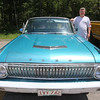 "Cars & Cans Car Show, organized by 16-year-old Alex ""Slimey"" Lambert of Dracut, to collect food and raise money for the Dracut Food Pantry. Robert Morel with his 1962 Ford Falcon, which he's owned for two years. It's now his only car, which he uses for everything. (SUN/Julia Malakie)"