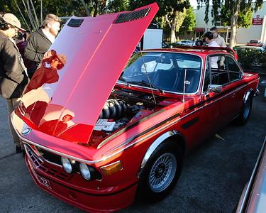 Red BMW 3.0 CSL - Cars & Coffee, Brisbane. Saturday 3 June 2017. Photos by Des Thureson - http://disci.smugmug.com