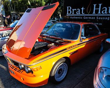 Orange BMW 3.0 CS Alpina - Cars & Coffee, Brisbane. Saturday 3 June 2017. Photos by Des Thureson - http://disci.smugmug.com