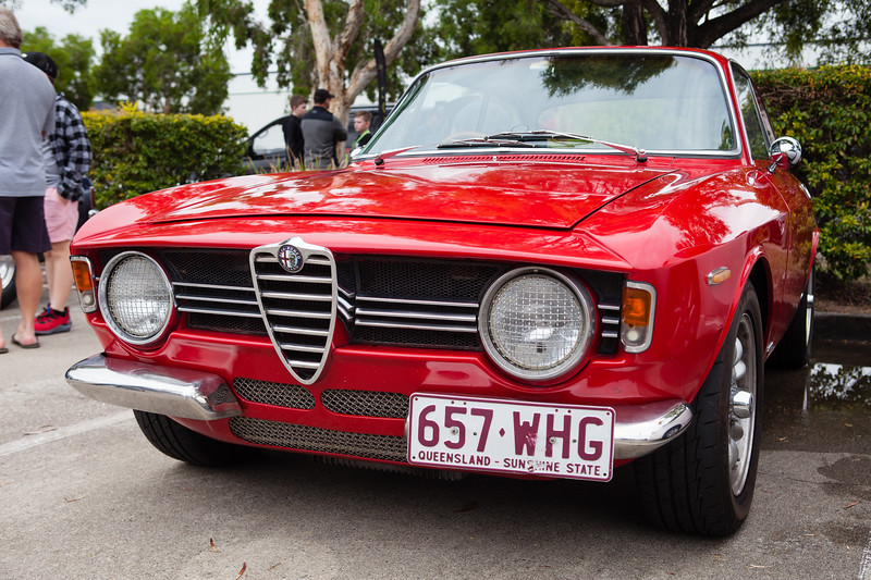 Red Alfa Romeo 1300 Junior Sprint GTV