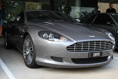 Aston Martin DB9 - Cars & Coffee, Brisbane. Saturday 6 August 2016. Photos by Des Thureson - http://disci.smugmug.com