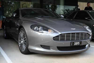 Aston Martin DB9 - Cars & Coffee, Brisbane. Saturday 6 August 2016. Photos by Des Thureson - http://disci.smugmug.com