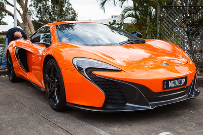 Orange McLaren 650s, NGiveUp - Cars & Coffee, Brisbane. Saturday 2 September 2017. Photos by Des Thureson - http://disci.smugmug.com