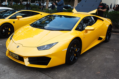 Yellow Lamborghini, Bad Game - Cars & Coffee, Brisbane. Saturday 2 September 2017. Photos by Des Thureson - http://disci.smugmug.com