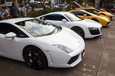 Line of Supercars - Cars & Coffee, Brisbane. Saturday 2 September 2017. Photos by Des Thureson - http://disci.smugmug.com