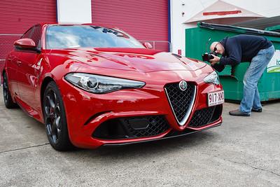 Alfa Romeo Giulia Quadrifoglio, Craig Stampfli - Cars & Coffee, Brisbane. Saturday 2 September 2017. Photos by Des Thureson - http://disci.smugmug.com
