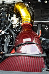 Carbon Fibre Engine Intake - Cars & Coffee, Brisbane. Saturday 2 September 2017. Photos by Des Thureson - http://disci.smugmug.com