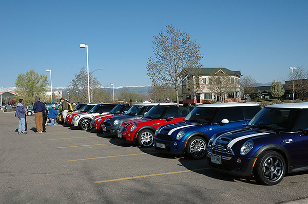 The lineup of MINI, 10 strong today.