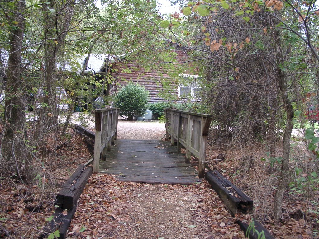This is a bridge that led from the forest to the cabin.