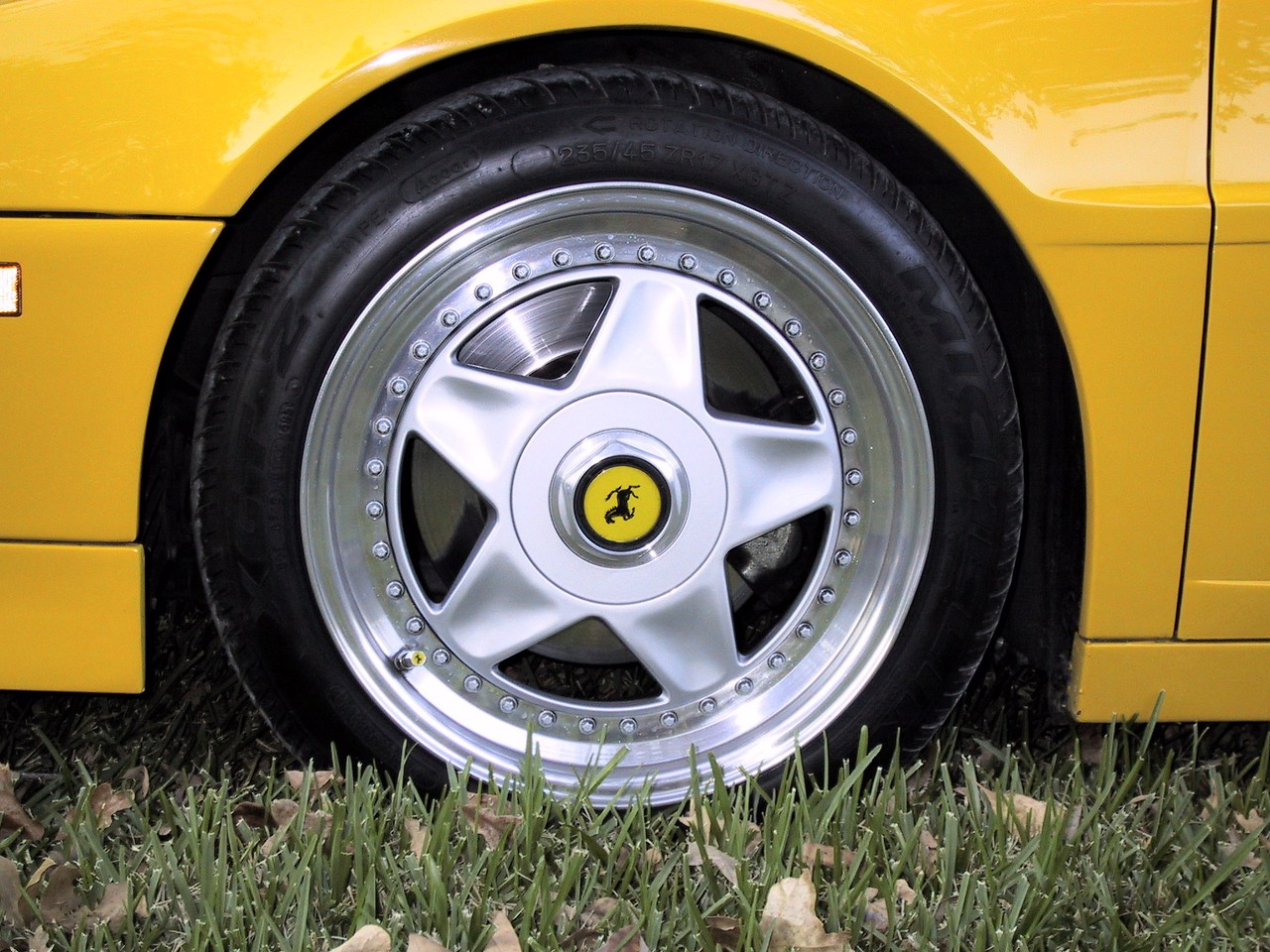 """I changed the original 16"""" rims to 17"""" rims. You can see the Ferrari air valve covers too."""