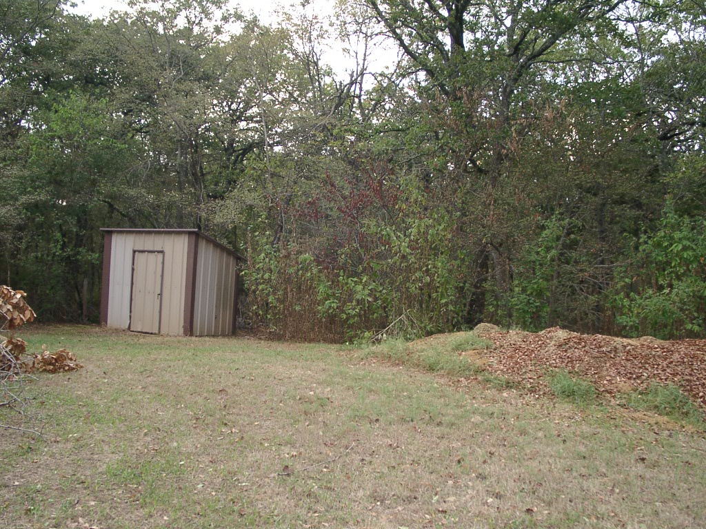 This shed was where the water well pump was located (with the well below it).  We had the option of using the well or city water whenever we liked.
