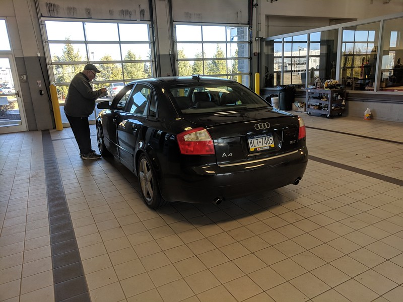 Monika's first service at Sun Motors.
