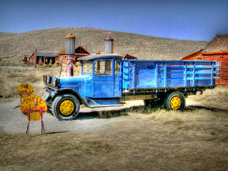 Old truck in the Ghost Town of Bodie