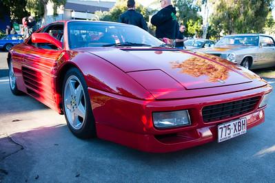 Ferrari 348 tb - Cars & Coffee, Brisbane. Saturday 5 August 2017. Photos by Des Thureson - http://disci.smugmug.com