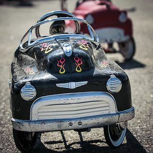 Childrens' pedal cars at the Owls Head Transportation Museum