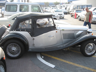 An MG TD replica but in automatic.