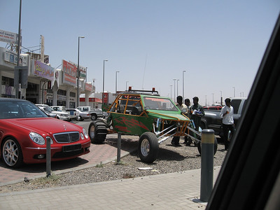 A wild dune buggy in a car yard in Al-Ain.