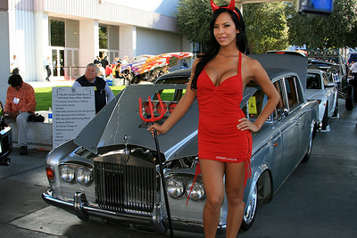 El Diablo in front of the World's fastest Rolls Royce at the SEMA Autoshow, Las Vegas, November 5th, 2008.