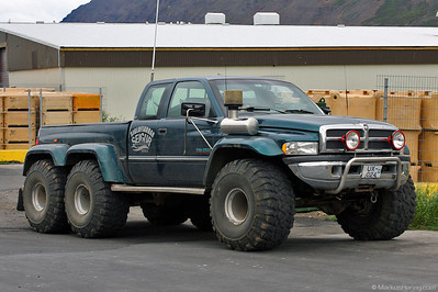 Dodge RAM 2500 three axle @ Siglufjördur Iceland 22Jul10