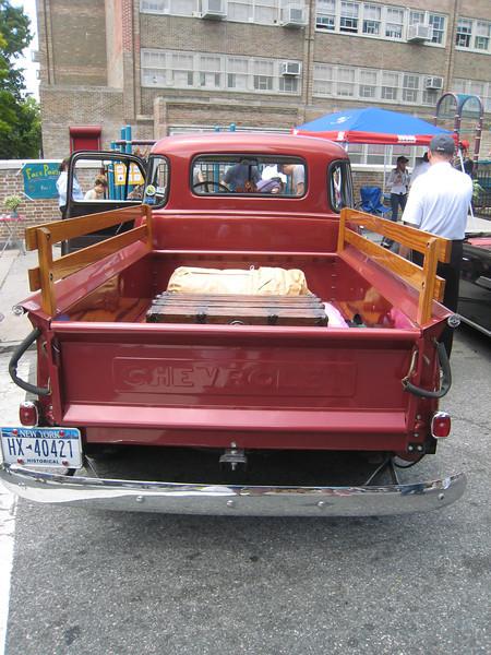 Chevrolet truck, rear