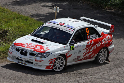 Subaru Impreza STI - Florian Gonon SUI @ WRC Rallye de France 1Oct10