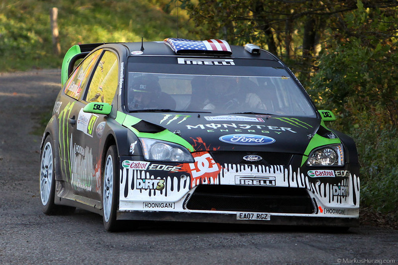 Ford Focus RS WRC 08 - Ken Block USA @ WRC Rallye de France 1Oct10