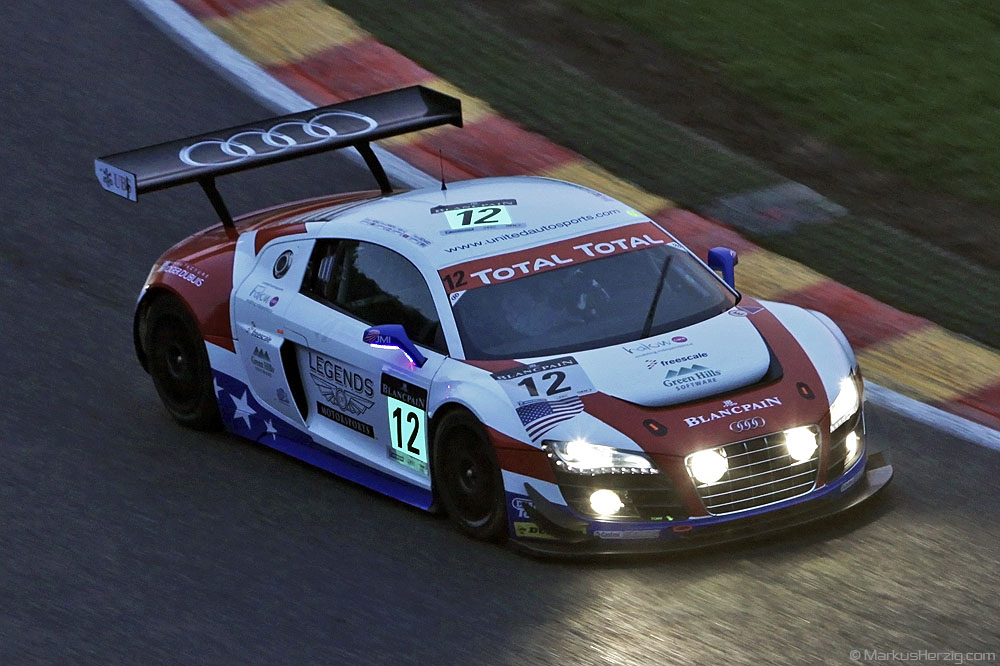 Audi R8 LMS - United Autosports - Luyendyk/Li/Meins/Richard @ Spa Total 24 Hours Belgium 28Jul11