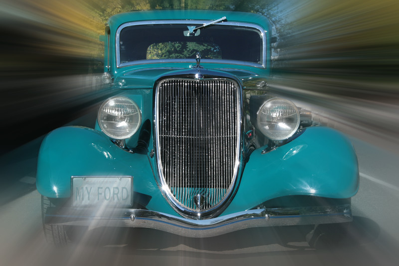 Turquoise Ford