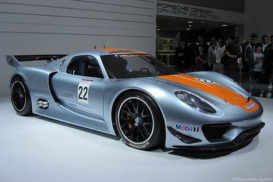 Porsche 918 RSR - Hybrid with 563 PS @ Geneva Switzerland 11Mar11 - Autosalon