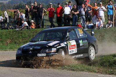 Mitsubishi Lancer Evo 9 - Alain Blaser SUI @ WRC Rallye de France 30Sep11
