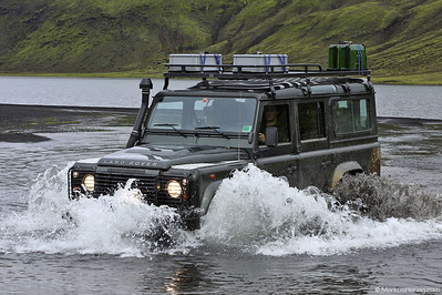 Land Rover Defender 110 @ Graenalon Iceland 30Jul10