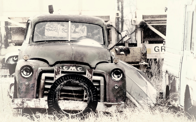 GMC in the snow