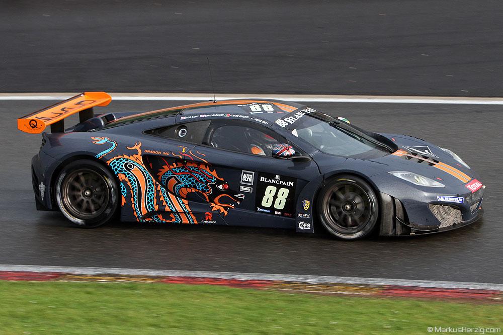 McLaren MP4-12C - Von Ryan Racing GBR Parente/Barff/Goodwin/Wills @ Spa Total 24 Hours Belgium 28Jul12