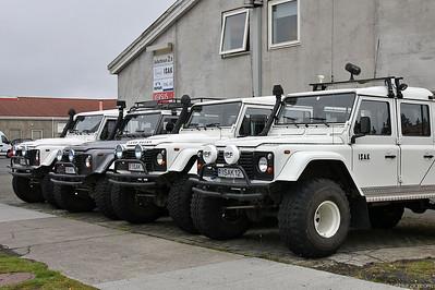 Land Rover Defender Isak 4x4 rental @ Reykjavik Iceland 27Jul10