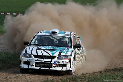 Mitsubishi Lancer Evo IX - Dirk Riebensahm DEU @ ADAC Pfalz-Westrich Rallye Germany 6May11