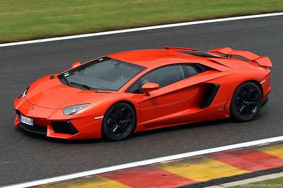 Lamborghini Aventador @ Spa-Francorchamps Belgium 28Jul12