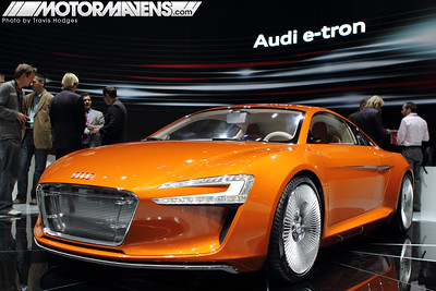 Audi e-tron all electric sports car at the LA Auto Show 2009