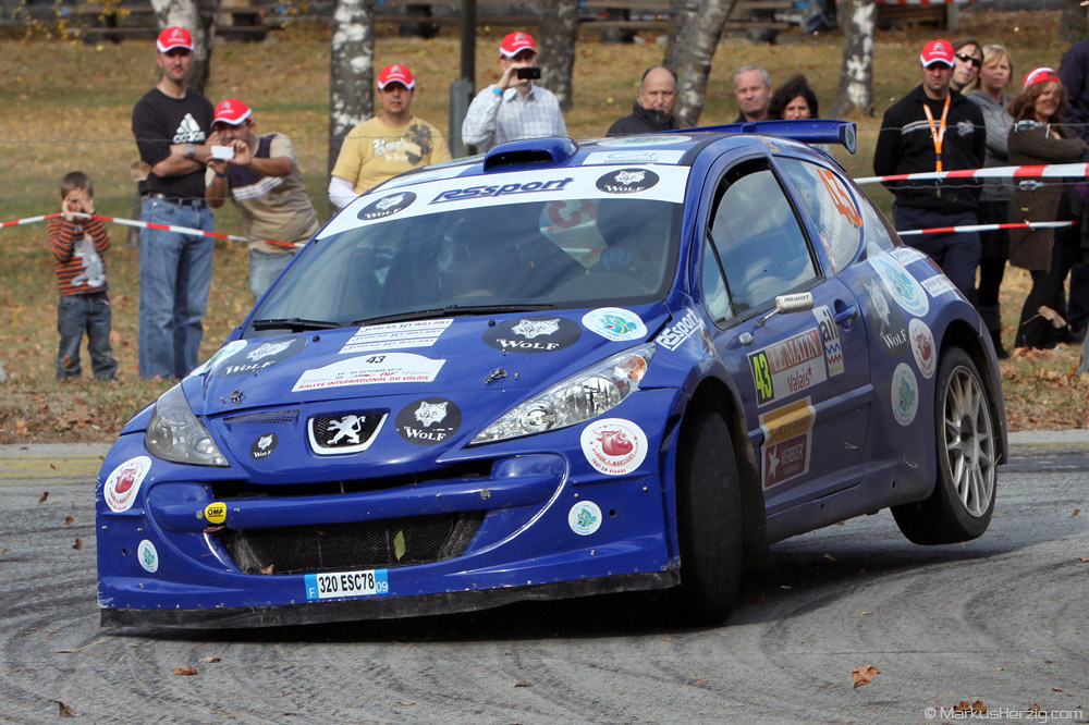 Peugeot 207 S2000 - Josias Rywalski SUI @ Rallye International du Valais Switzerland 30Oct10