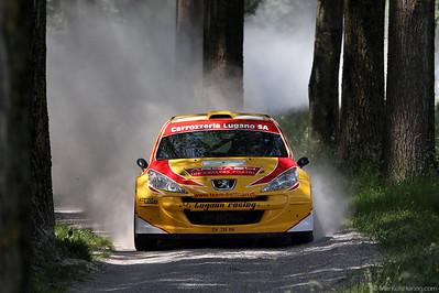 Peugeot 207 S2000 - Ivan Ballinari SUI @ Rallye du Chablais Switzerland 1Jun12