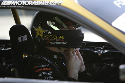 Tanner Foust preparing to drift at Formula Drift 2009 Long Beach