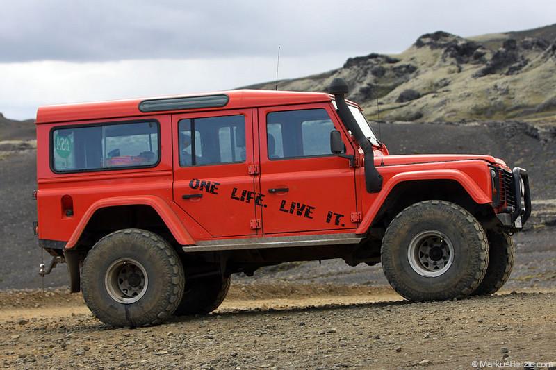 Land Rover Defender 110 icelandic style @ Lakagigar Iceland 25Jul09