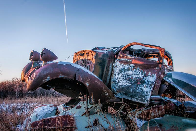 Stack of oldsmobiles